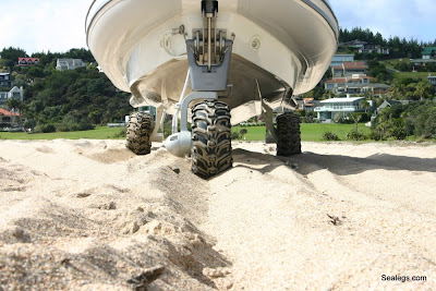 Sealegs boat on the beach