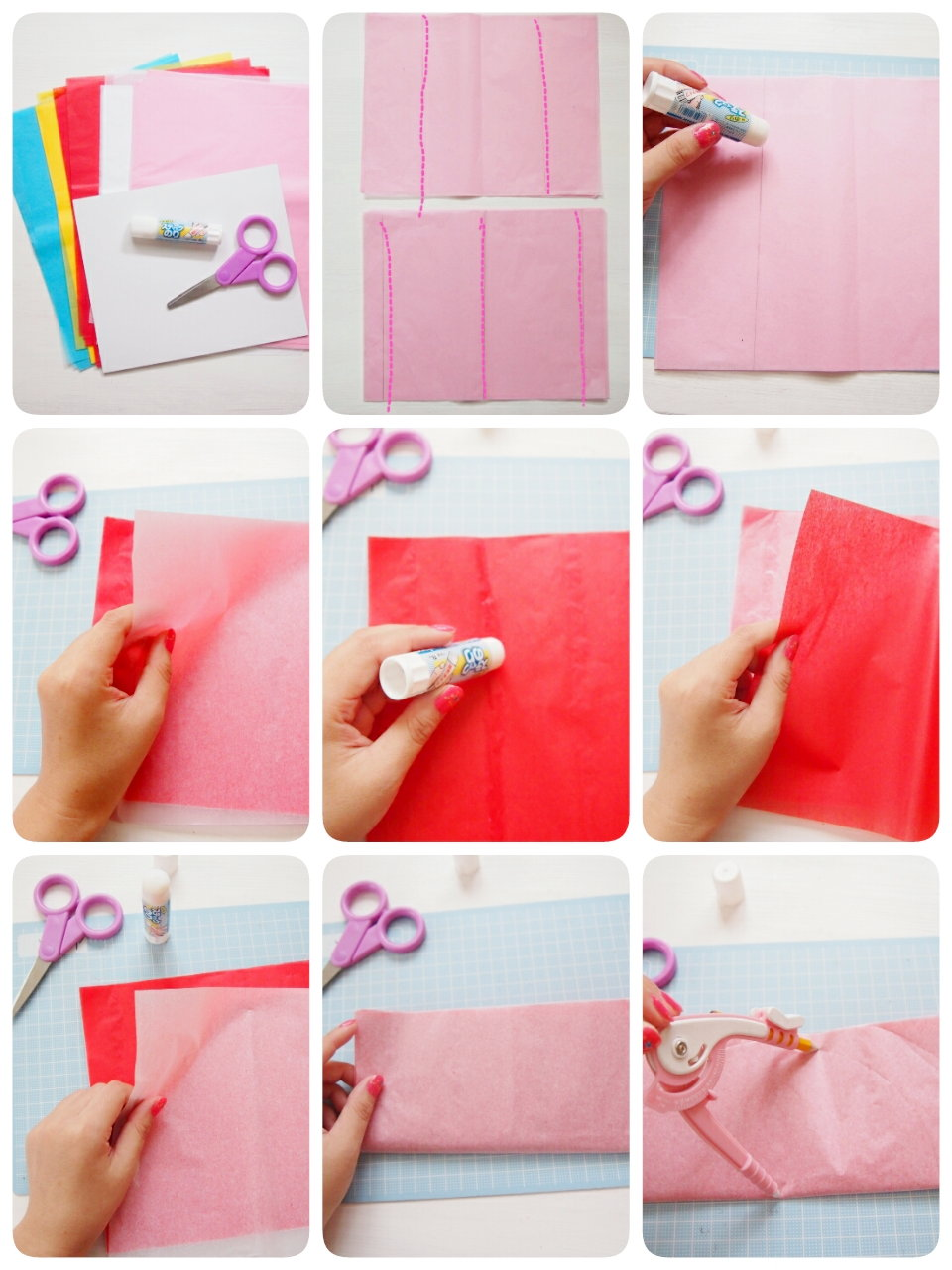 すべての折り紙 折り紙 パーティー : 手作りハニカムボールの作り方