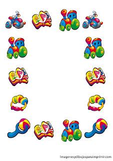 juguetes infantiles en margenes margenes infantiles para imprimir ...