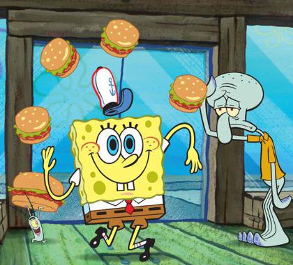 Sponge Bob juggling
