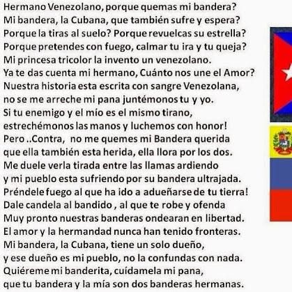 Hermano venezolano ¿por que quemas mi bandera