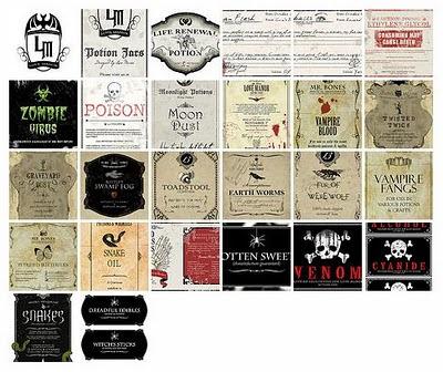 Free Halloween Potion Bottle Labels