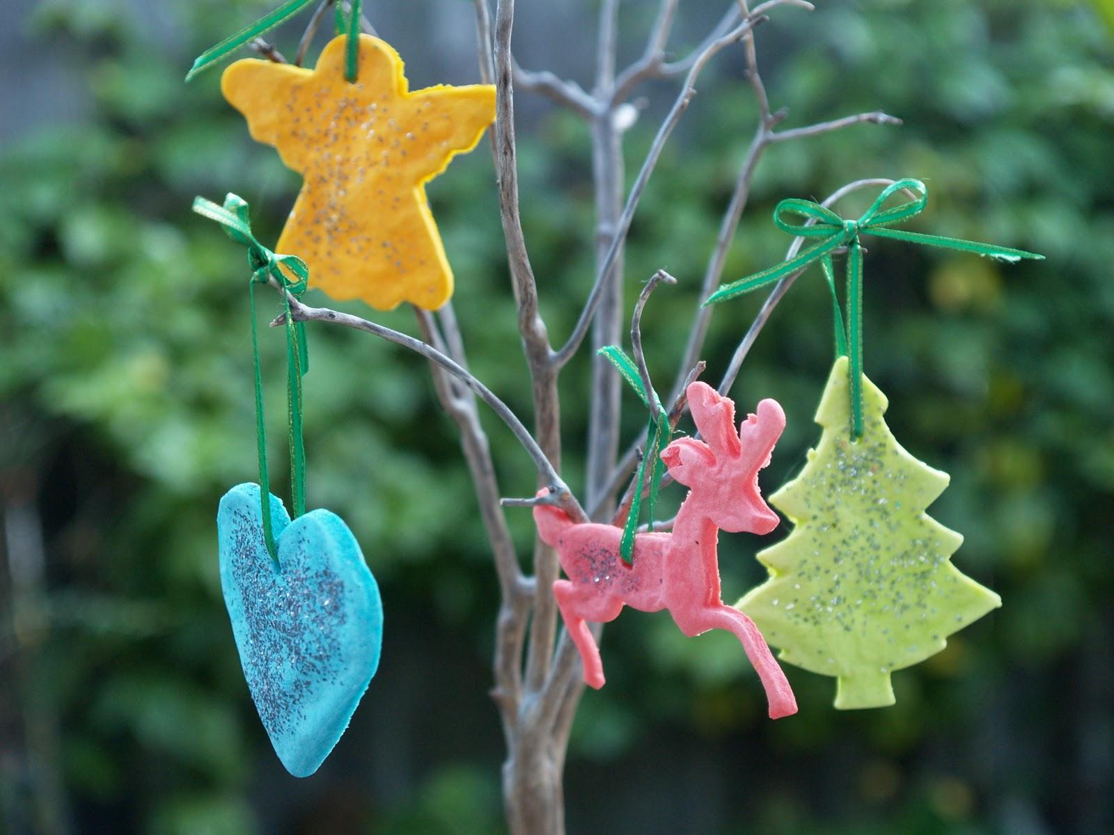 How to make Playdough Christmas Ornaments  The Magic Onions