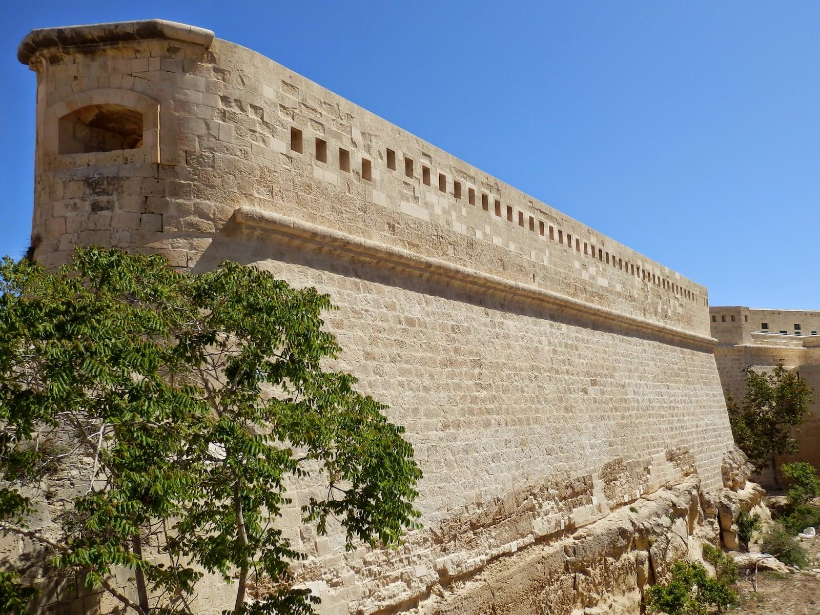 City walls Valletta Malta