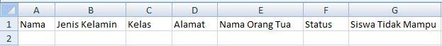 Format Data Siswa