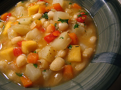 Spicy White Bean and Turnip Soup