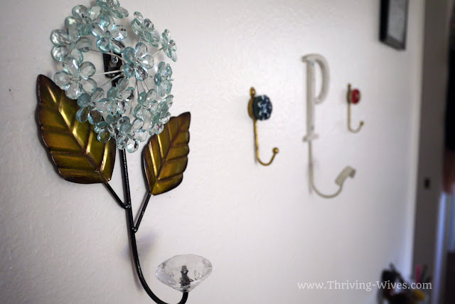 vintage home decor hooks for small space organization