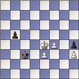 Estudio de Francesc Vivas Font, SEPA 162/3 1954, posición después de 9…Rc3