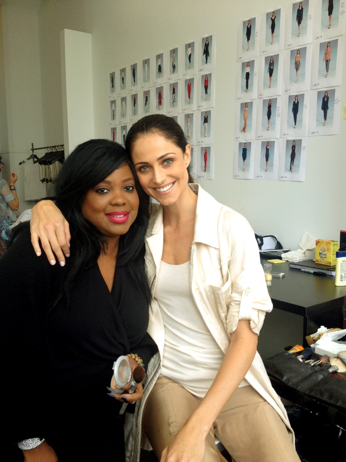Anna Marie Horsford Nude Good created effortless makeup during market week for donna karan
