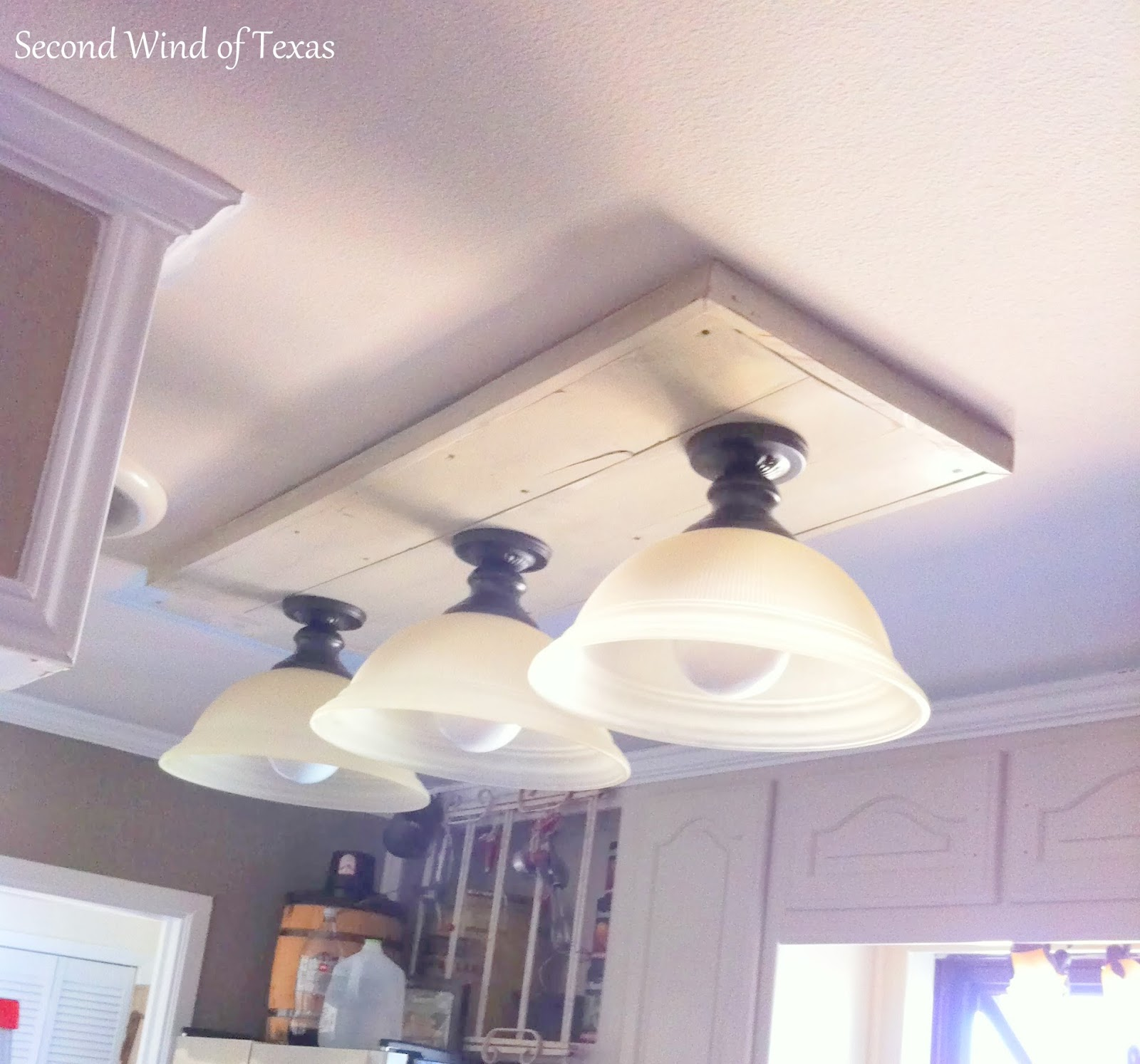 making lights to replace ugly kitchen fluorescent light covers