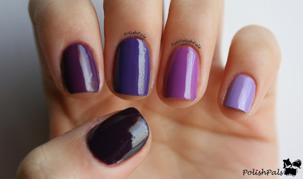 polish pals purple ombre nails