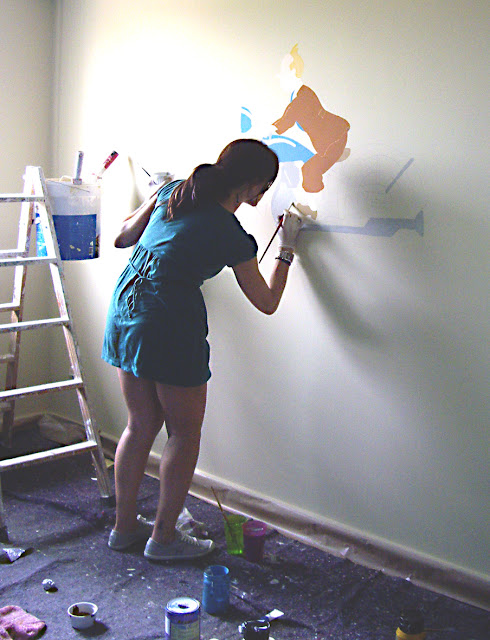 pintura mural tintin tin tin
