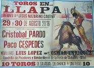 Paco Céspedes anunciado en Llapa