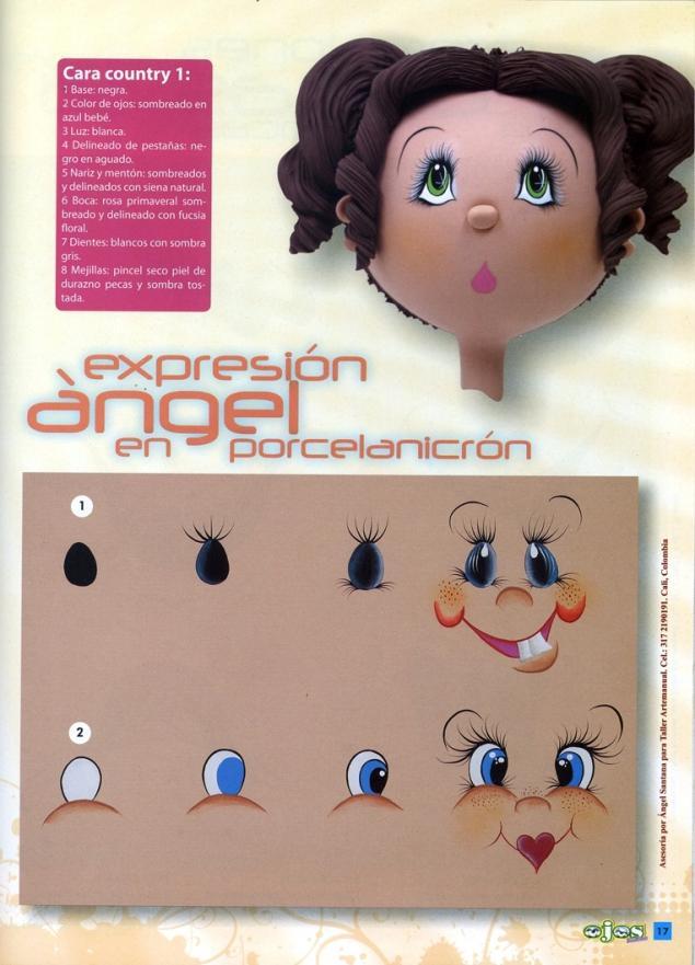 Рисуем глазки куклам и игрушкам