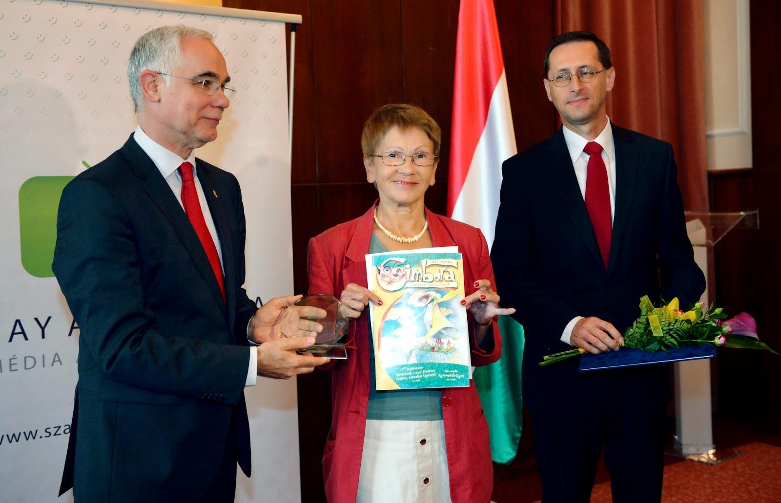 Szalay Annamária Média Alapítvány, Szalay Annamária-díj, Cimbora, média, kultúra, tudatos médiahasználat