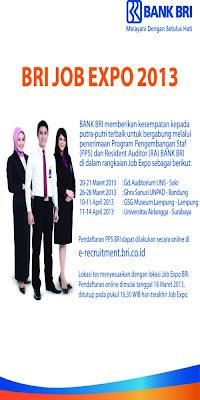 Recruitment PT. Bank BRI Tbk Terbaru 2013 | BRI Job Expo 2013
