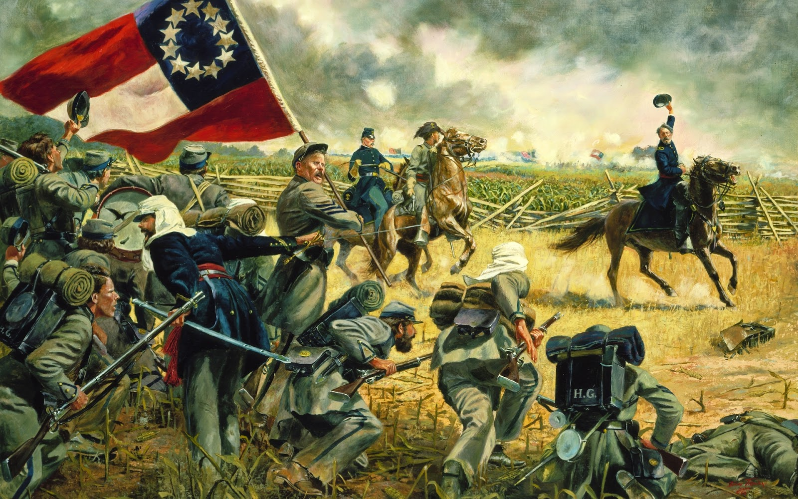 Battle of Antietam Union army civil war pictures