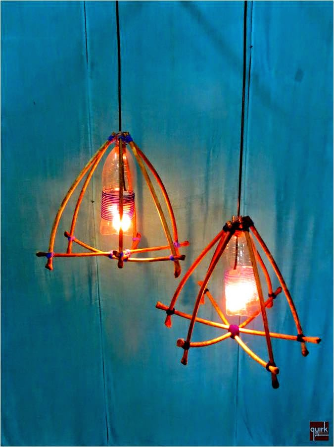 Quirk It Design_STICK n TIED_wood sticks to lamp_nature_DIY_Quirky_Home_Decor