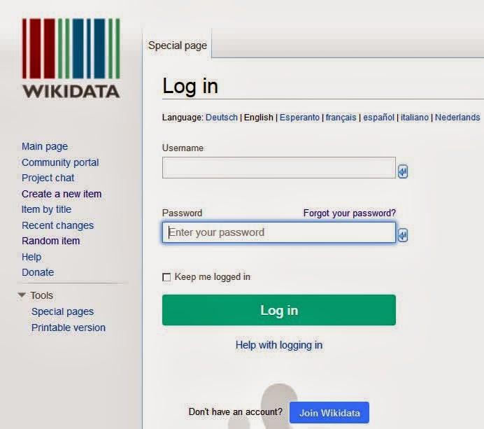 wikidata login
