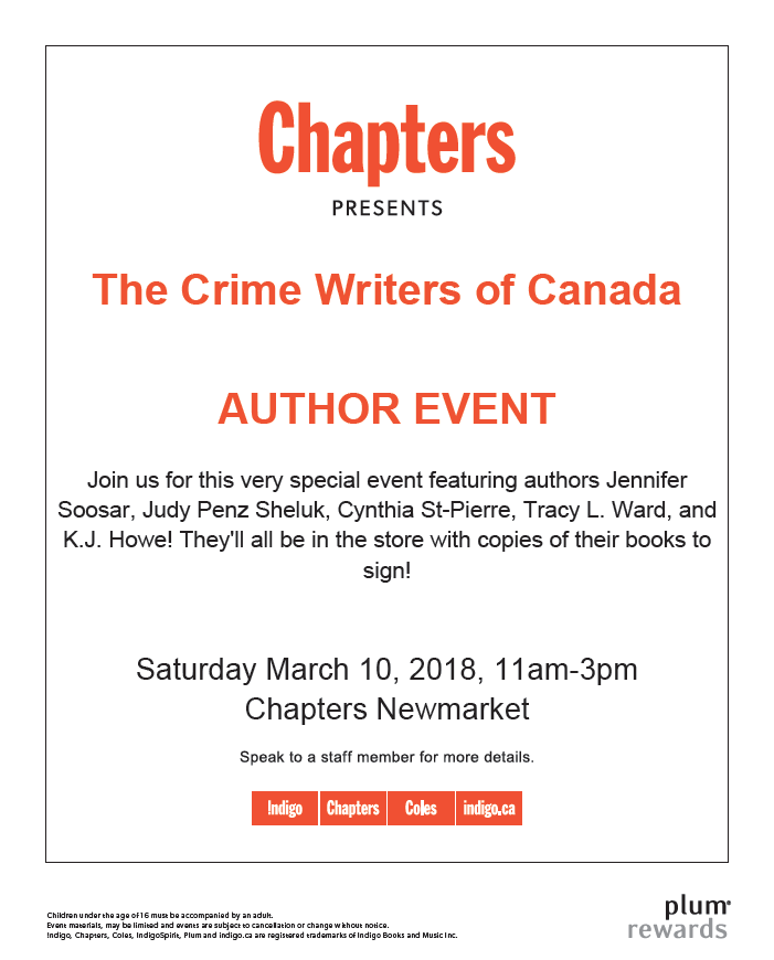 Crime Writers of Canada 35th Anniversary Celebration