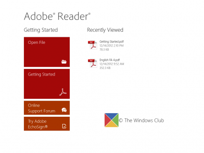 Descargar Adobe Reader para Windows 8