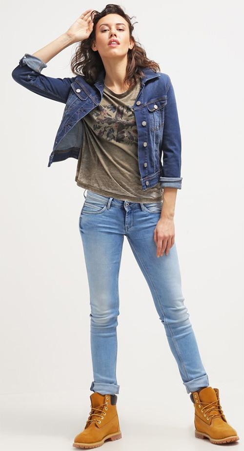 Jean bleu délavé femme Pepe Jeans
