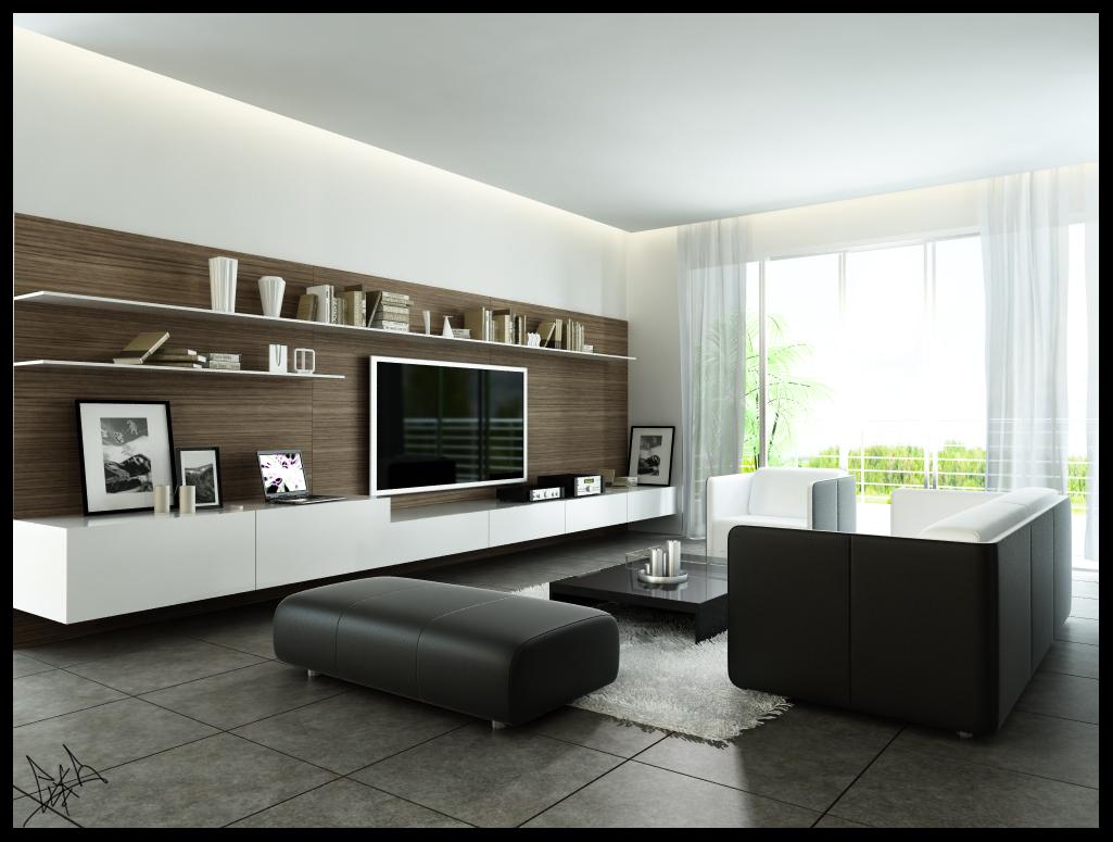 Fotos de salas decoradas modernas for Salas modernas