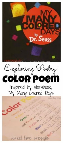exploring poetry with dr suess write a simple color poem school time snippets. Black Bedroom Furniture Sets. Home Design Ideas