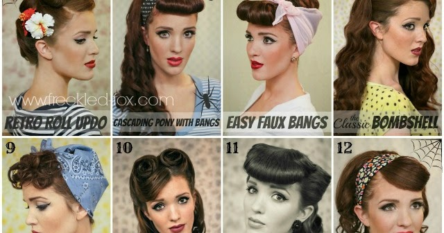 The Freckled Fox Halloween Inspiration Retro Hair Tutorial Round Up