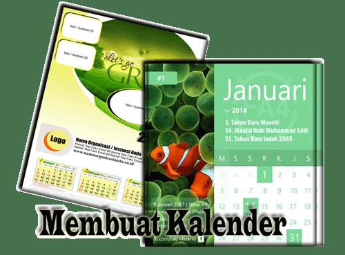 Hasil Cara membuat kalender