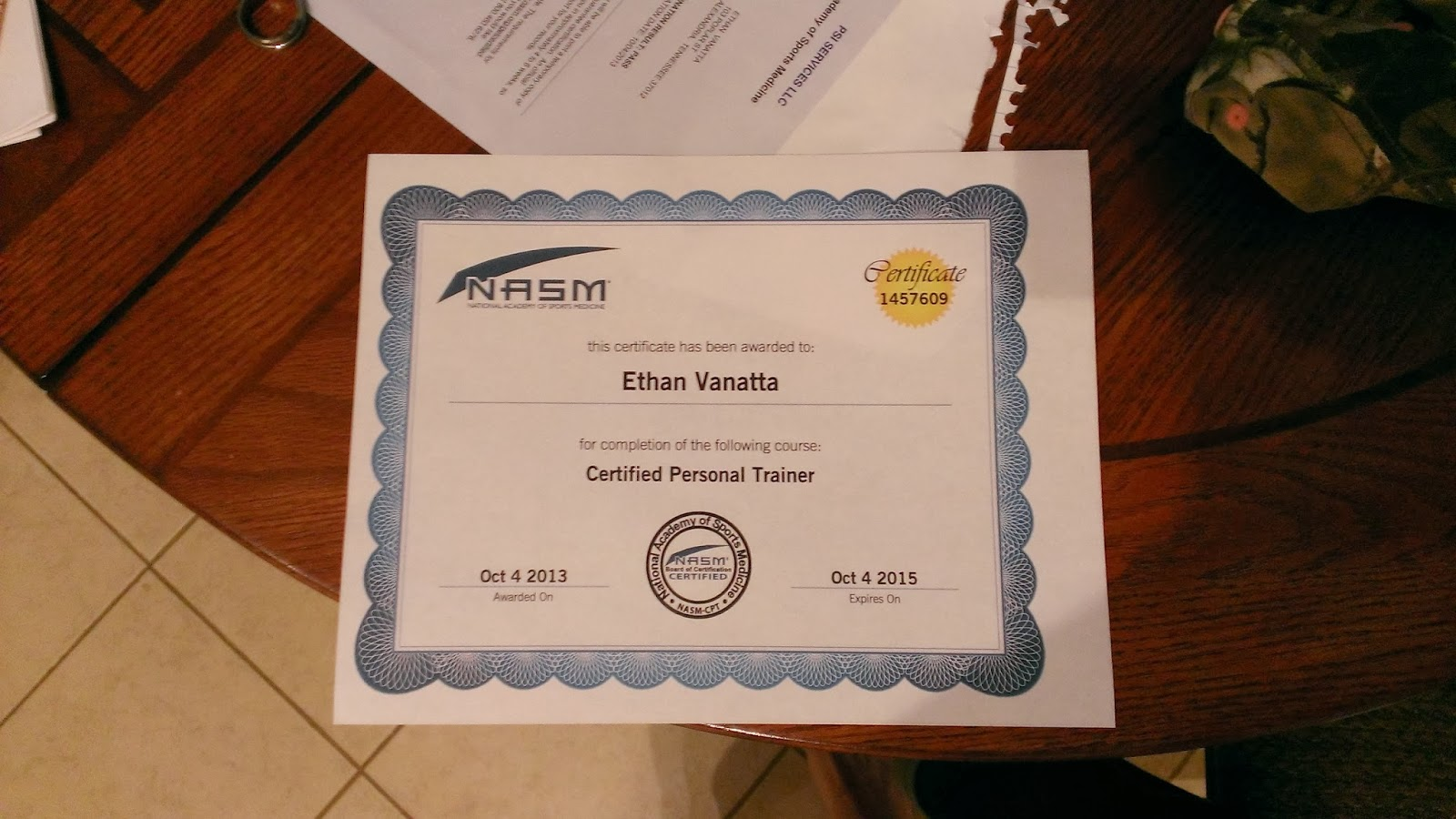 Tough fitness its official im a nasm cpt i know it kinda looks stupid with that paper on it but it covers up my personal address xflitez Images