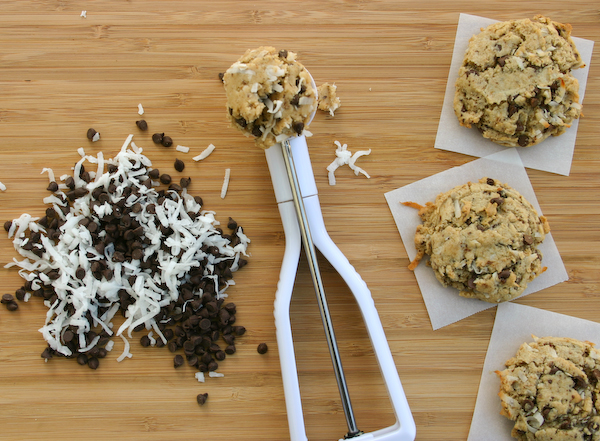 Coconut Coffee Chocolate Chip Cookies.