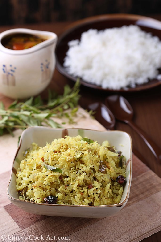 Cabbage stirfry with coconut