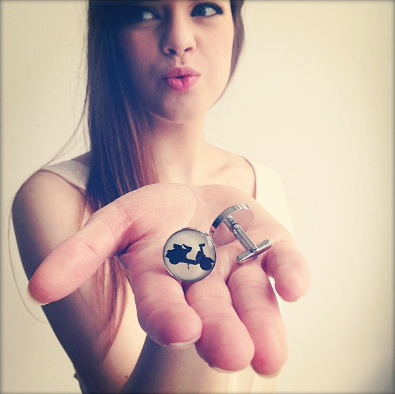 http://www.whitetrufflestudio.com/collections/cufflinks/products/vespa-cufflinks