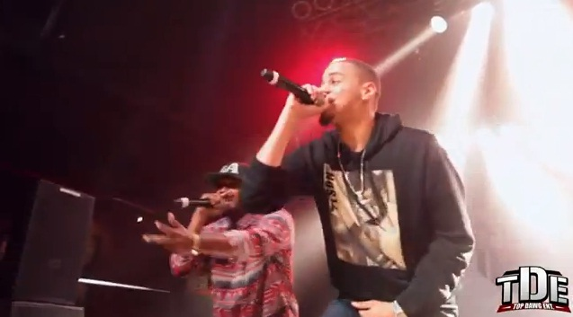 KendrickCole Kendrick Lamar bring outs J Cole in Charlotte, NC (Video)