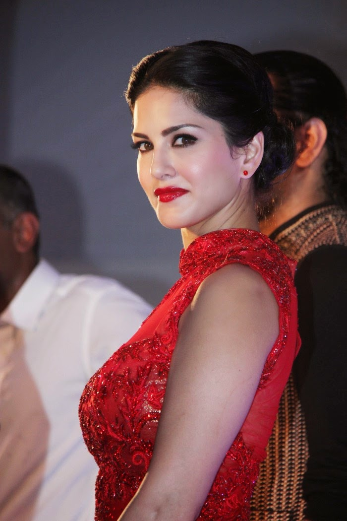 Sunny Leone Hot and Spicy HD Wallpapers in Red Dress