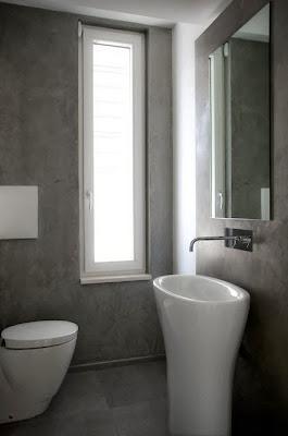 Diseño de cuarto de baño en casa que de bajo consumo energético