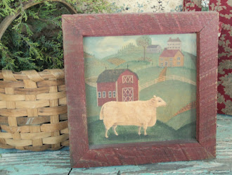 """Sheep in the Meadow"" - Hand Painted - Hand Made Wooden Frame"