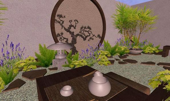 foto render4 - diseno jardines online patio oriental japones - atardecer virtual
