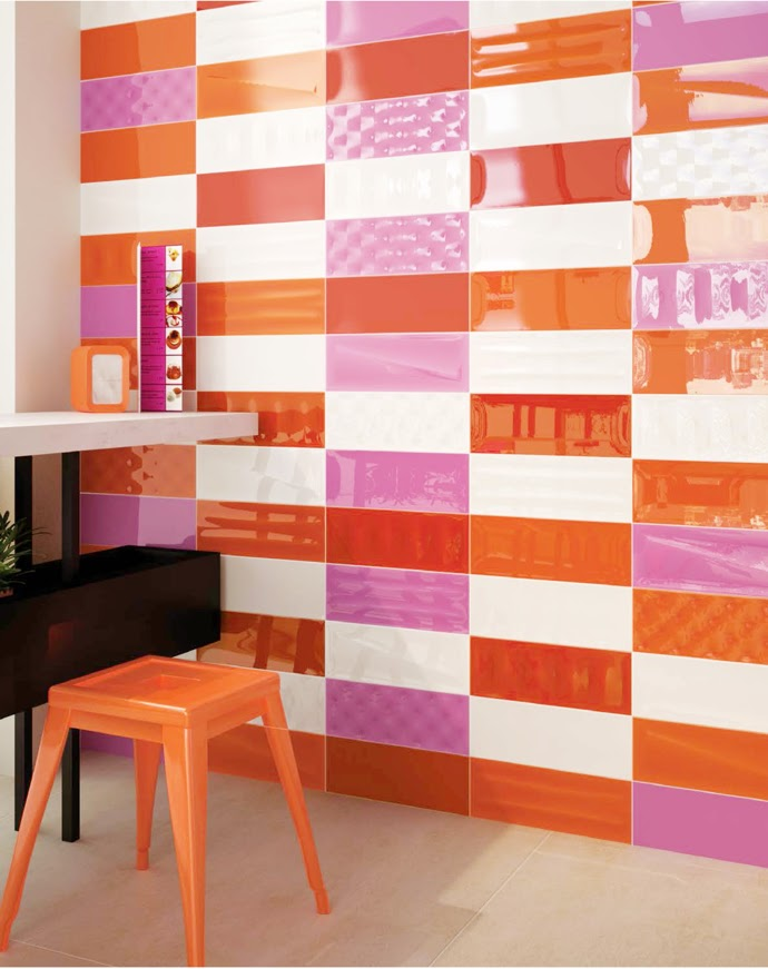 pop art tiles in the kitchen