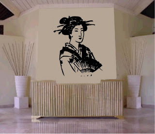 Japanese Bamboo Art Wall Idea