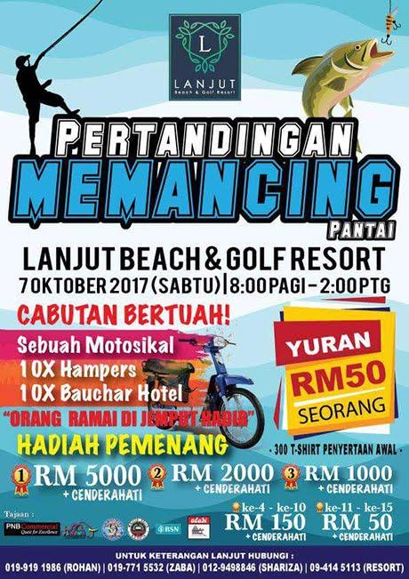 Pertandingan Memancing Pantai di Lanjut Beach & Golf Resort 7 Oktober 2017