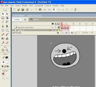 ... mata berkedip Kakao Talk jika diekspor ke GIF, seperti gambar berikut