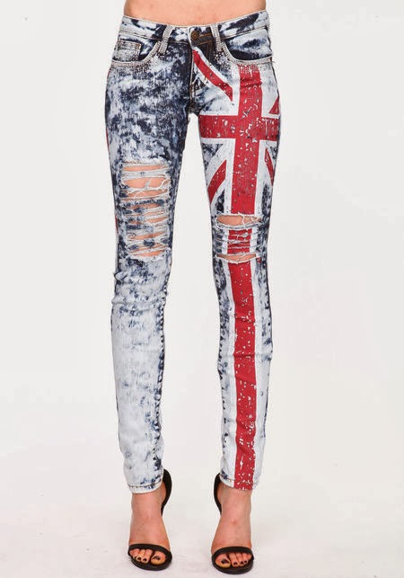 British flag jeans