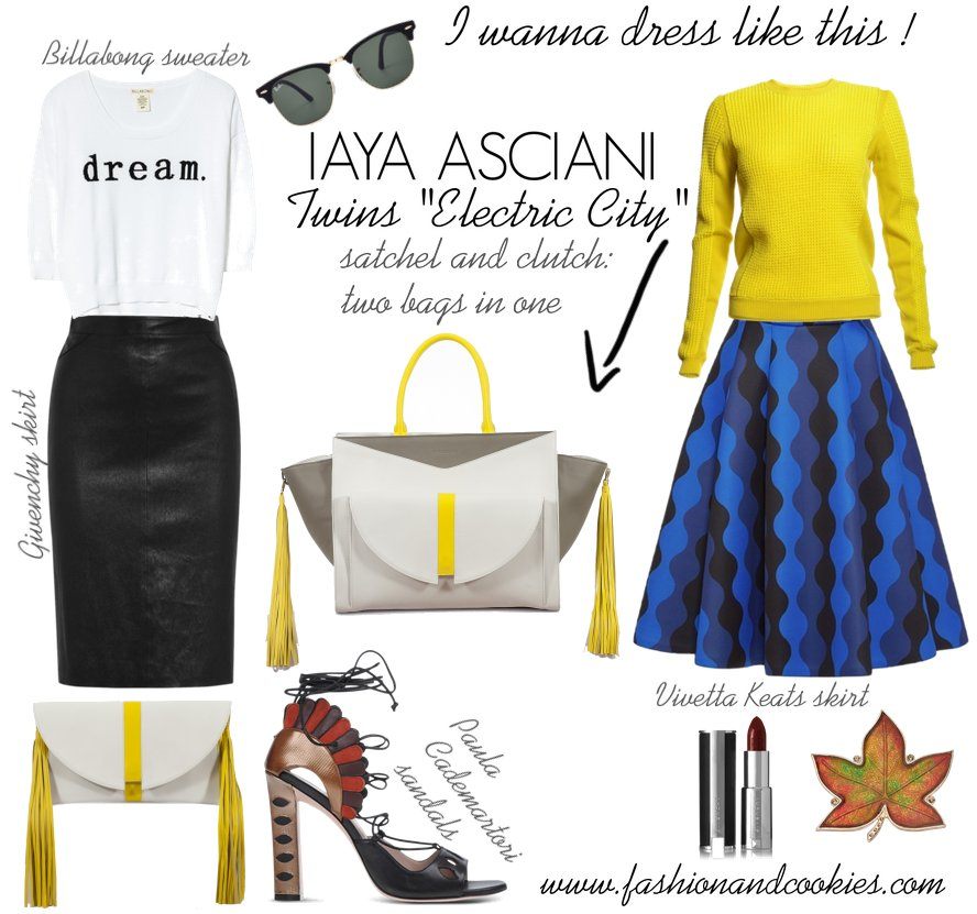 Iaya Asciani Twins bag on Fashion and Cookies fashion blog, fashion blogger style, fashion wishlist