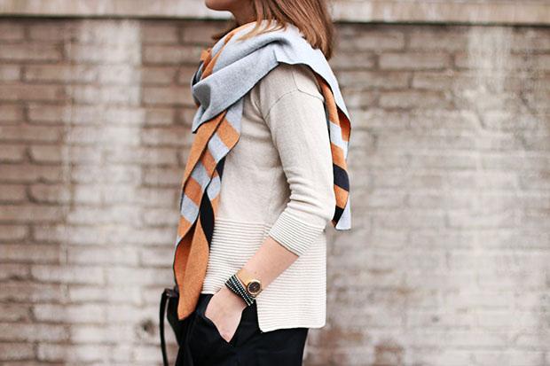 chunky scarf/blogger