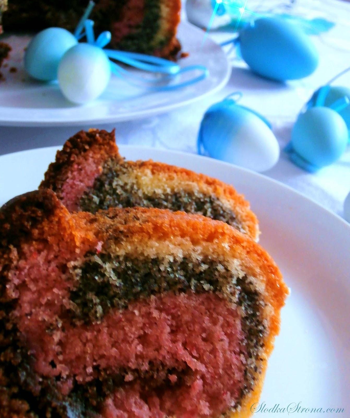 Kolorowa Babka Wielkanocna - Słodka Strona - Przepis