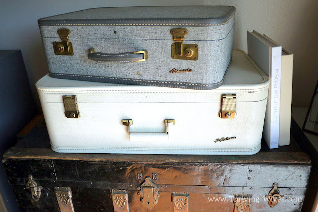 vintage home decor suitcases small space organization