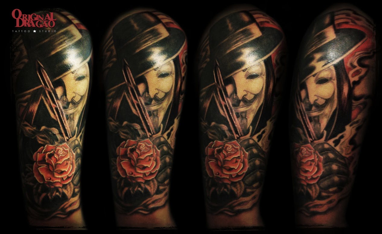 V for vendetta and quote tattoo  TattooMagz