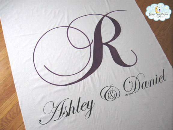 Wedding Aisle Runner for Ashley This was the perfect design for Ashley 39s